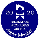 Federation of Canadian Artists Active Member badge
