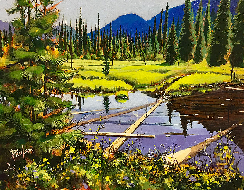 Dragon Lake Road painting by Quesnel Artist Fred Paulson